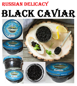Black-caviar-export-3-Jars-100g-10-5oz-Russian-Delicacy-Exp-15-12-2019
