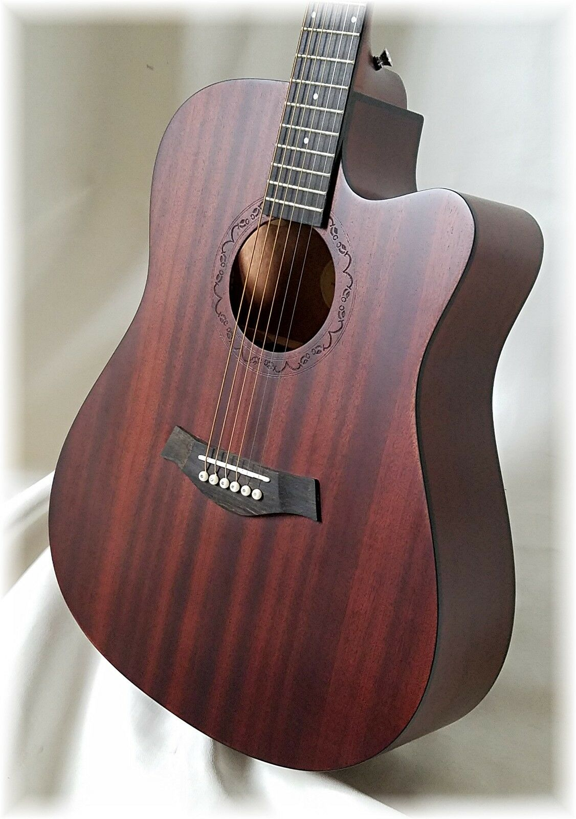 DILLION- 2018, All Sapele dreadnought Prototype . . . Stunning, Just 2 left 567d61
