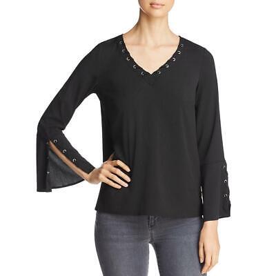 Design History Womens Ruffled Sheer Everyday Tank Top Shirt BHFO 5868