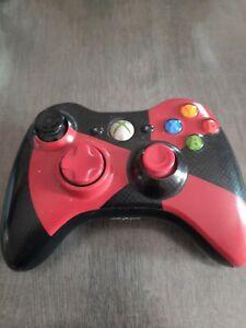 Manette Officielle Microsoft Xbox 360 noir et rouge Sans Fil