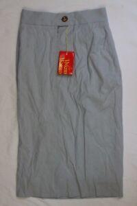 UK-6-IT-38-Vivienne-Westwood-Light-Blue-Wool-Blend-Skirt