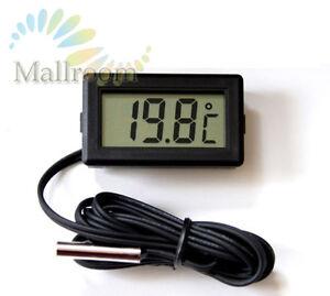 LCD-Thermometer-digital-50-bis-110-Digitalthermometer-Temperaturmesser-Black