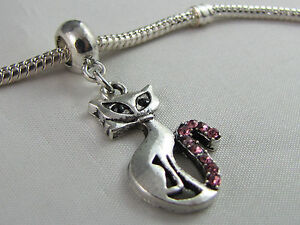SILVER-CAT-DANGLE-CHARM-WITH-RHINESTONES-FOR-EUROPEAN-STYLE-CHARM-BRACELETS-122