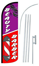 Beauty Barber Flag Kit 3 Wide Windless Swooper Feather Advertising Sign
