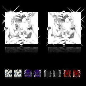 1-paire-acier-inox-Goujon-zircon-strass-cristal-hommes-Boucles-d-039-oreilles-5-X-5
