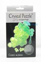 Diy 3d Crystal Puzzle Jigsaw 46 Pieces Kid Toy Model Figure - Grapes Green _us