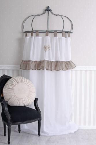 Schlaufenschal Weiss Vorhang Stickerei Gardine Shabby Chic Schlaufenvorhang