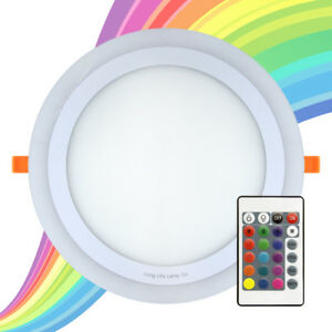 RGB-16-Couleur-Changeante-Ring-DEL-Ceiling-Panel-Down-light-chambre-Mood-Light