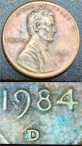 1984-D-Multi-error-Lincoln-Penny-Doubled-DDR-001-D-D-OMM-NICE-TONING-CAMEO