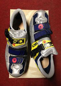 Scarpe-bici-corsa-Sidi-Genius-3-bike-bicycles-road-shoes-40-5-made-in-Italy