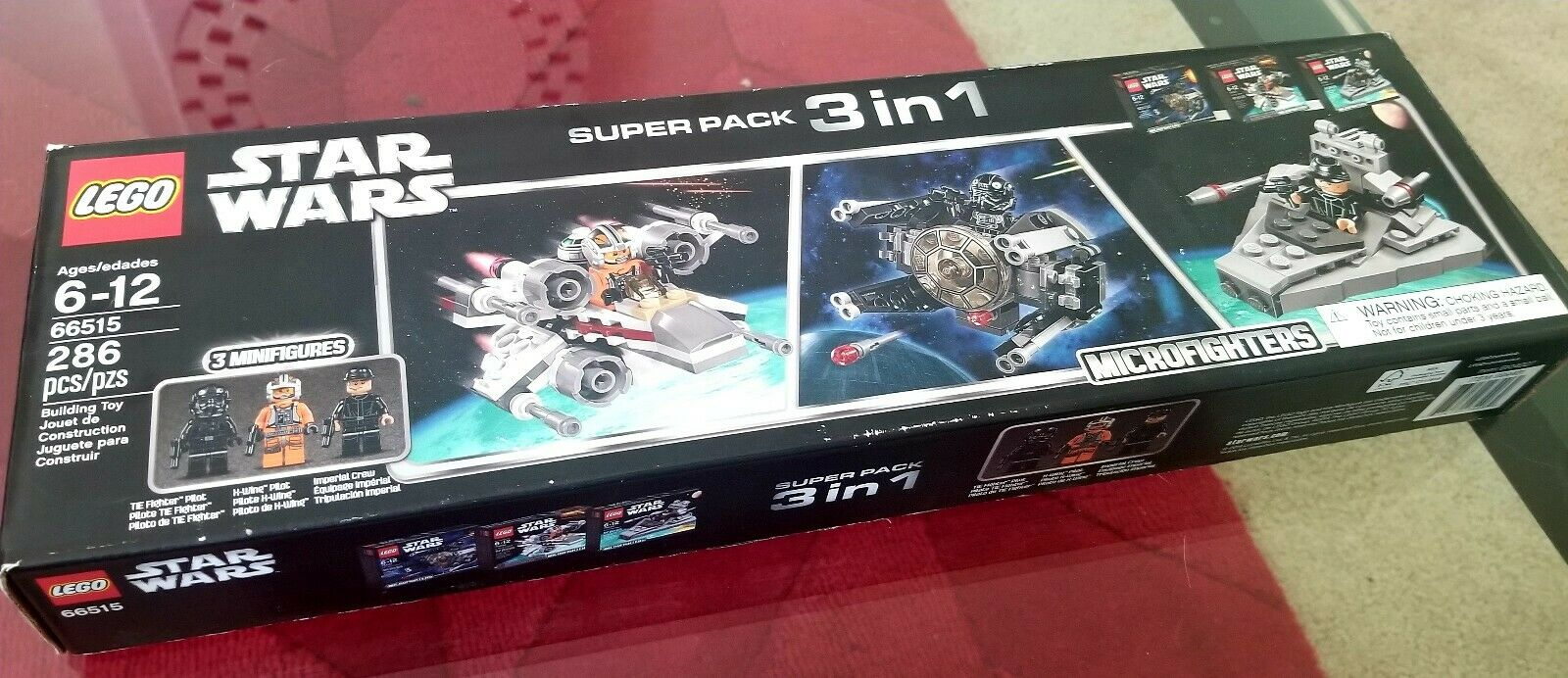 Star Wars Lego Microfighters Super Pack 3 in 1 Set  2 AFA 9.0  Minifigures XWING