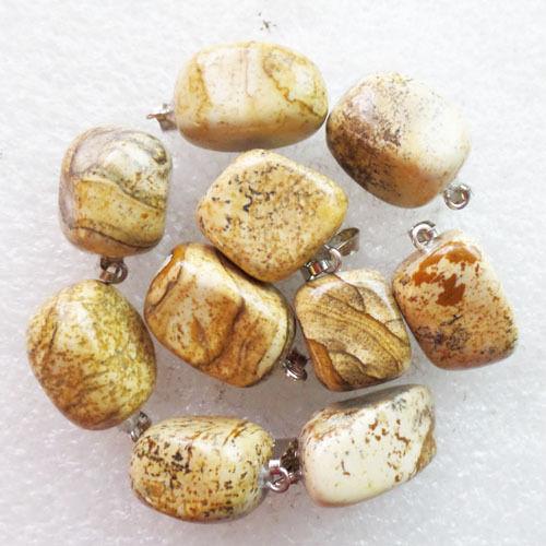 Beautiful mezclado piedras preciosas forma libre Colgante Perla GL066 15x12x9mm-18x13x11mm 10 un
