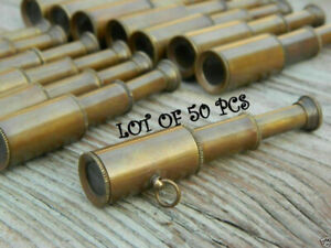 Medieval-Telescope-Key-Ring-Antique-Collectible-Brass-Maritime-LOT-OF-50-PCS