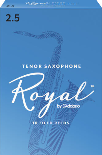 Strength 2.5 Royal by D/'Addario Tenor Saxophone Reeds 10-pack