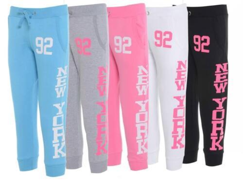 Ladies Capri 3//4 Jogging Bottom Track Pants Sweat Trousers Joggers Active Wear