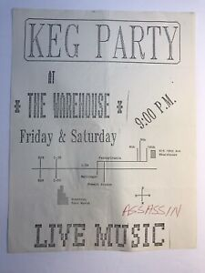 Dallas Texas 1980's Metal Band Flyer ASSASSIN Live Music Keg Party The Warehouse