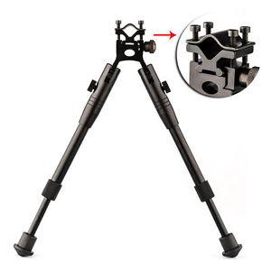 Adjustable-8-034-10-034-Spring-Return-Foldable-Hunting-Rifle-Bipod-w-Barrel-Mounts