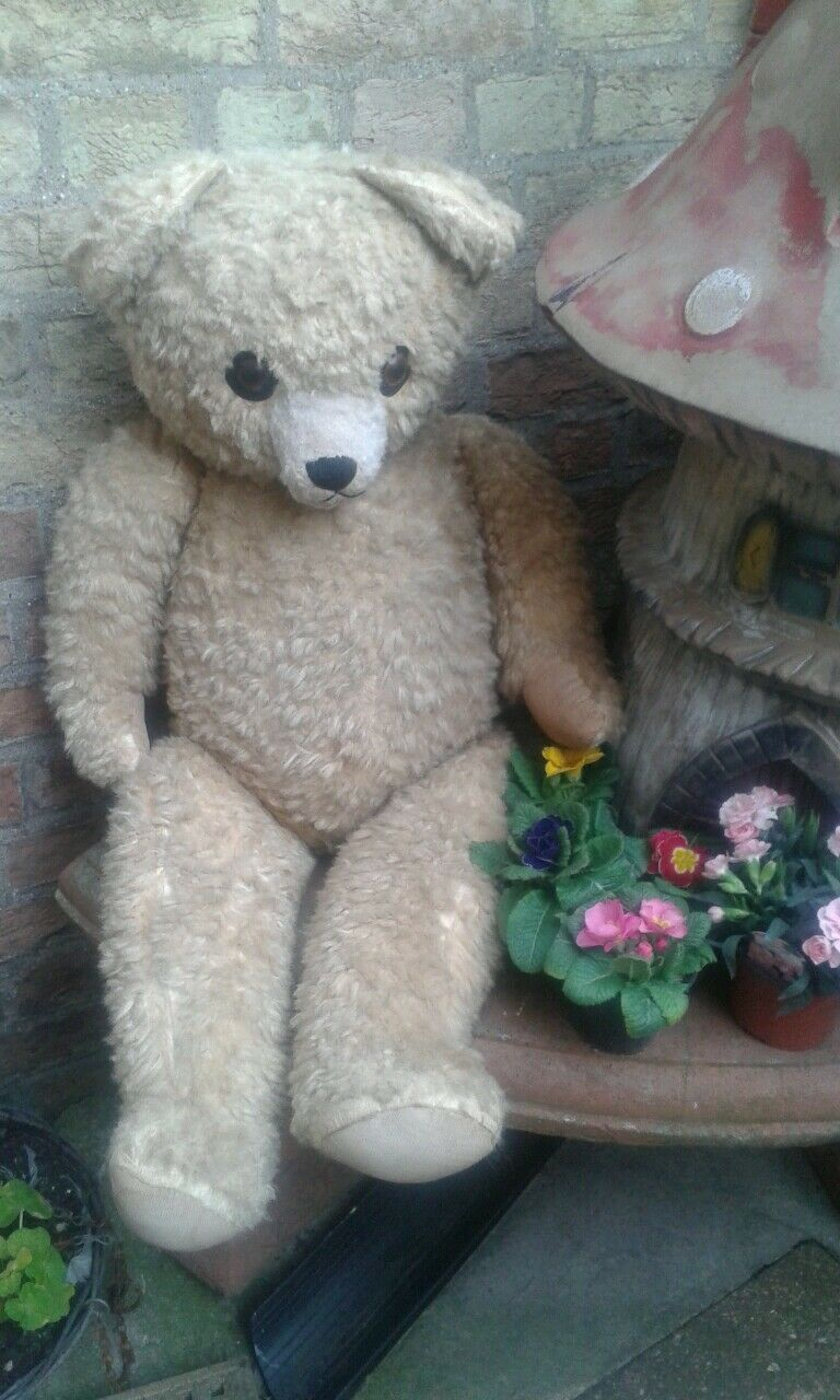 Antique Antique Antique vintage TRADITIONAL 36   jointed teddy bear pos english collectors bear d4ba62