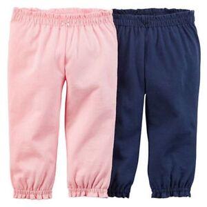 Friendly Nuevo Carter's Niña Pack 2 Rosa & Azul Marino Pantalones Con Etiqueta 3m 12 To Reduce Body Weight And Prolong Life Girls' Clothing (newborn-5t)