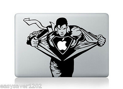 "Superman Apple Macbook Pro Air 13"" Mac Sticker Decal Skin Vinyl Cover For Laptop"