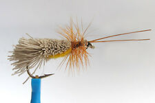 10 x Mouche Sèche SEDGE GODDARD ventre ORANGE H10/12/14/16 fly belly peche