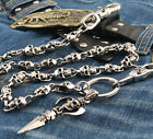 Skull Pendant Biker Rock Jeans Wallet Key Chain CS59
