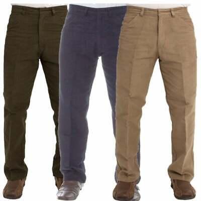 MENS CARABOU TROUSERS PANTS MOLESKIN WALKING WORK PLAIN SIMPLE PANTS SIZES 32-46