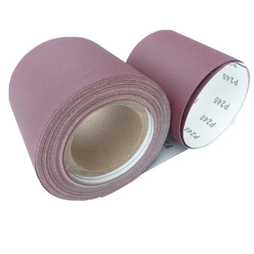 25 m Papier abrasif 115mmx25m rôles Papier abrasif Handschleifpapier du papier de verre