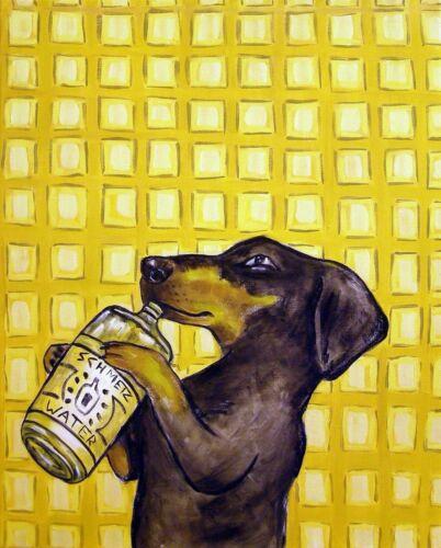 DACHSHUND dog  art PRINT 8x10 gift new animals impressionism