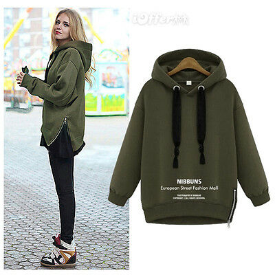 Women Hoodies Long Sweater Pullover Top Plus Hoody Sweatshirt Jumper Coat Jacket