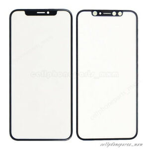more photos 08231 7b439 Details about For iPhone X Front Touch Screen Outer Glass Lens Replacement  Assembly Black