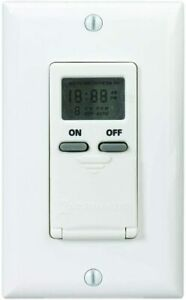 Intermatic-Digital-In-Wall-7-Day-Digital-Timer-15-Amp-Light-Fan-Switch-CFL-LED