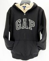Gap Mens Arch Logo Hoodie Sweatshirt Jacket Zipper Front Black Size L Xl