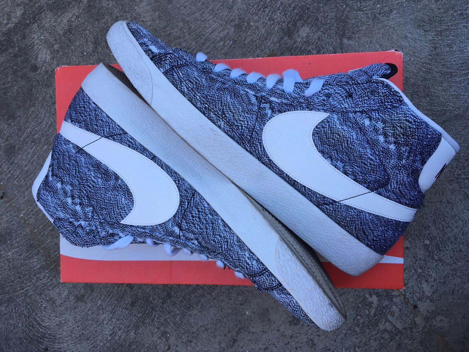 9d68c91c60ca8 Nike X J. Crew Blazers Size 13 Md Md Md Marble Black   White cb9785 ...