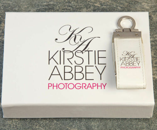 Custom color print logo for retailer Leather USB 2.0 Flash Drive box packing