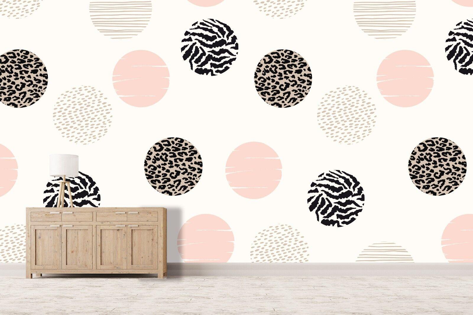 3D Round Pattern Art 781 Wallpaper Mural Paper Wall Print Murals UK Summer