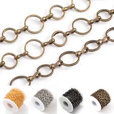 10.9yds Gold-Filled Brass Oval Link Cross Chains 24 Gauge Soldered String 5x2mm