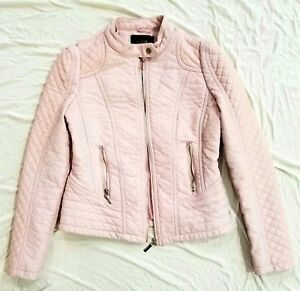 a8f2abb862f2 BABY PINK Women s SOFT flexible Faux Leather Jacket Medium SZ M by ...