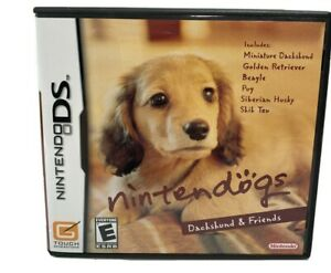 Nintendogs: Dachshund & Friends (Nintendo DS, 2005) Complete Tested Works
