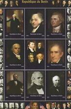 VARIOUS AMERICAN PRESIDENTS REPUBLIQUE DU BENIN 2009 MNH STAMP SHEETLET