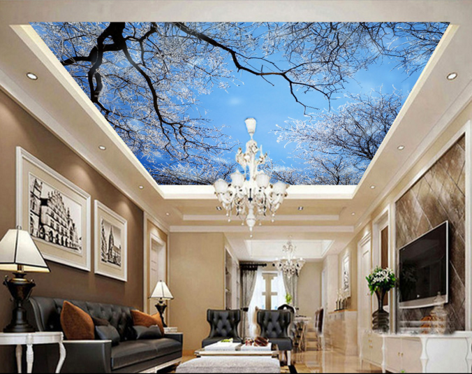 3D Eis Baum Natur 54 Fototapeten Wandbild Fototapete BildTapete Familie DE