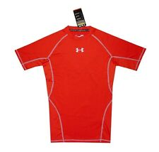 NEW! AUTHENTIC UA MEN'S DRI-FIT/ COMPRESSION T SHIRT (RED, SIZE XL)