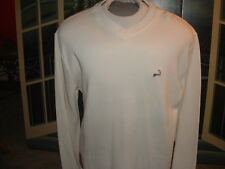CAPE COD V-NECK PULLOVER SWEATSHIRT w/Patriotic Logo.LARGE(Long)By: Cuffy's>LQQK