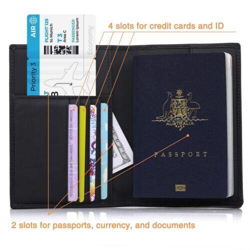 USA Passport SLIM Leather Case Vintage for Men Women Family Passport Holder