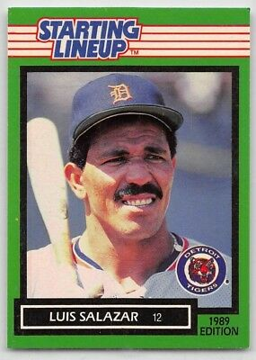 1989   MIKE HENNEMAN DETROIT TIGERS Kenner Starting Lineup Card
