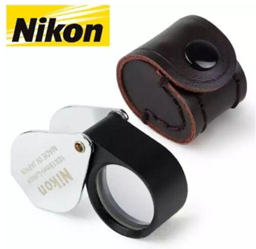 Nikon Full HD 10x18mm Lens Magnifier Loupe Jewellers Eye Amulet Folding Pocket