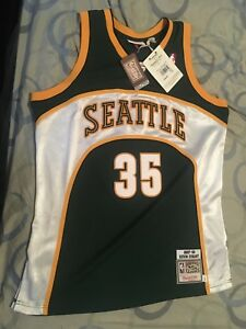 9817d25a2edb Large 44 Mitchell   NESS Authentic KD HARDWOOD C Seattle Supersonics ...