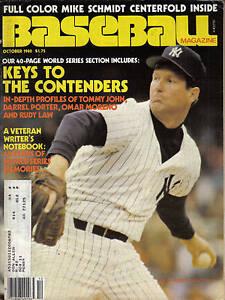 1980-Oct-Baseball-Magazine-Tommy-John-New-York-Yankees
