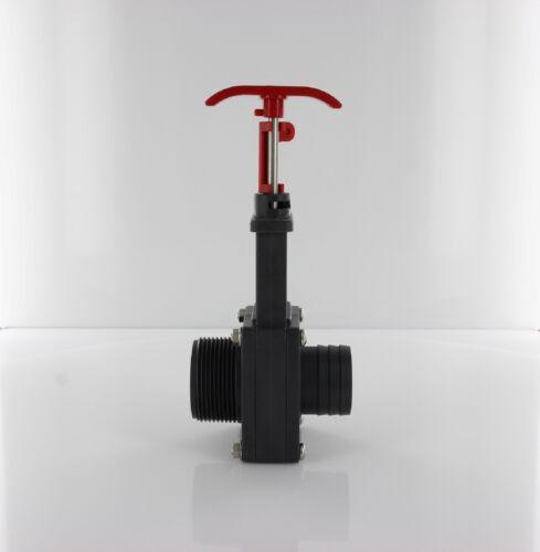 "Pool Absperrschieber Ventil Schieber Schlauchanschluss 38 mm x 1 1//2/"" AG"