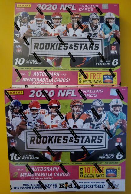 1 Box - 2020 Rookies & Stars Longevity Mega Box. 1 Auto/2 Memorabilia Per Box🔥